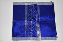 Load image into Gallery viewer, Royal Blue and Silver Plain Aso Oke