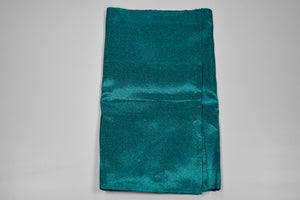 Teal Green Plain Aso Oke