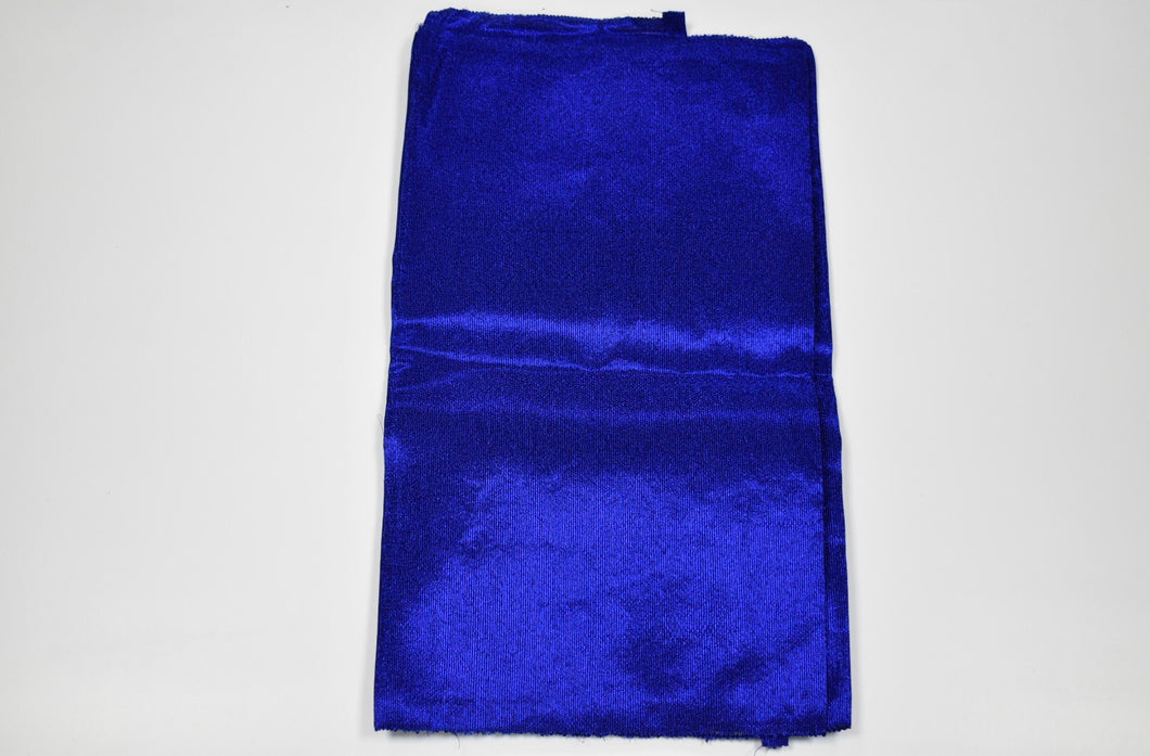 Royal Blue Plain Aso Oke