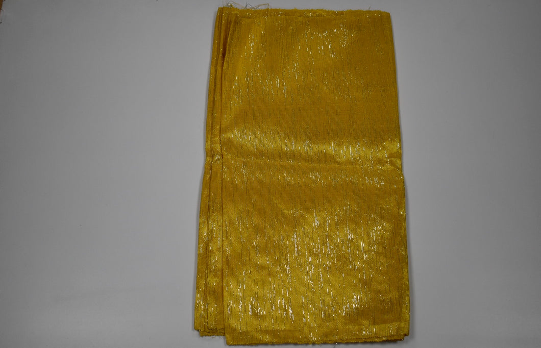 Dark Gold Plain Aso Oke