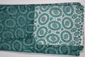 Teal Green Cord Lace - 5 Yards