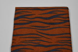 Orange Fancy Ankara - 6 Yards