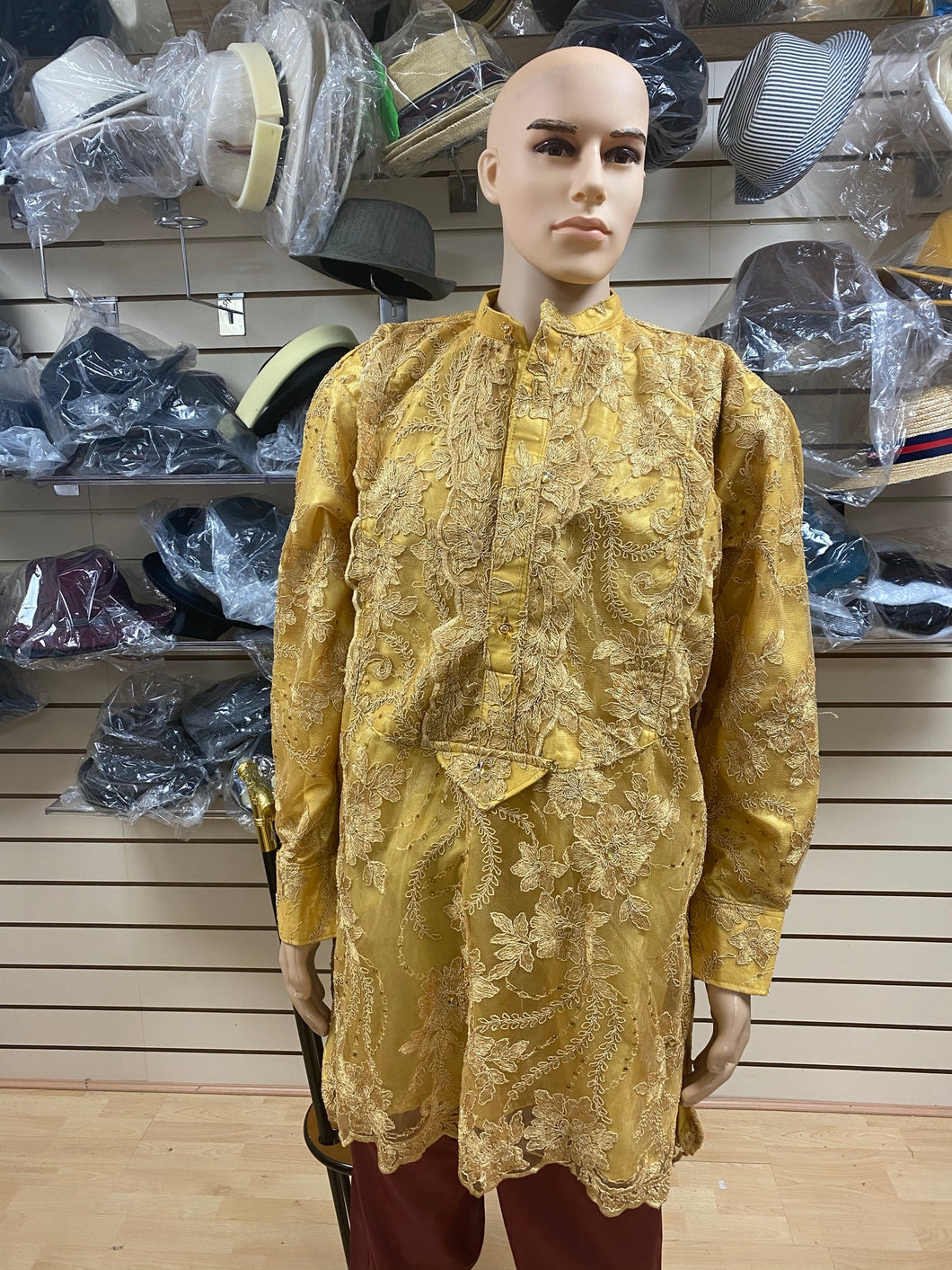 Gold Urhobo Men's Top