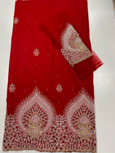 Red George with Blouse Fabric