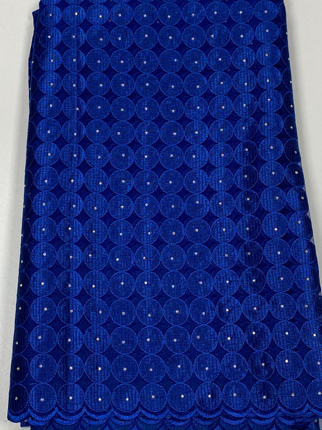 Royal Blue French Cord Lace - 5 Yards