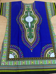 Royal Blue Dashiki Dress