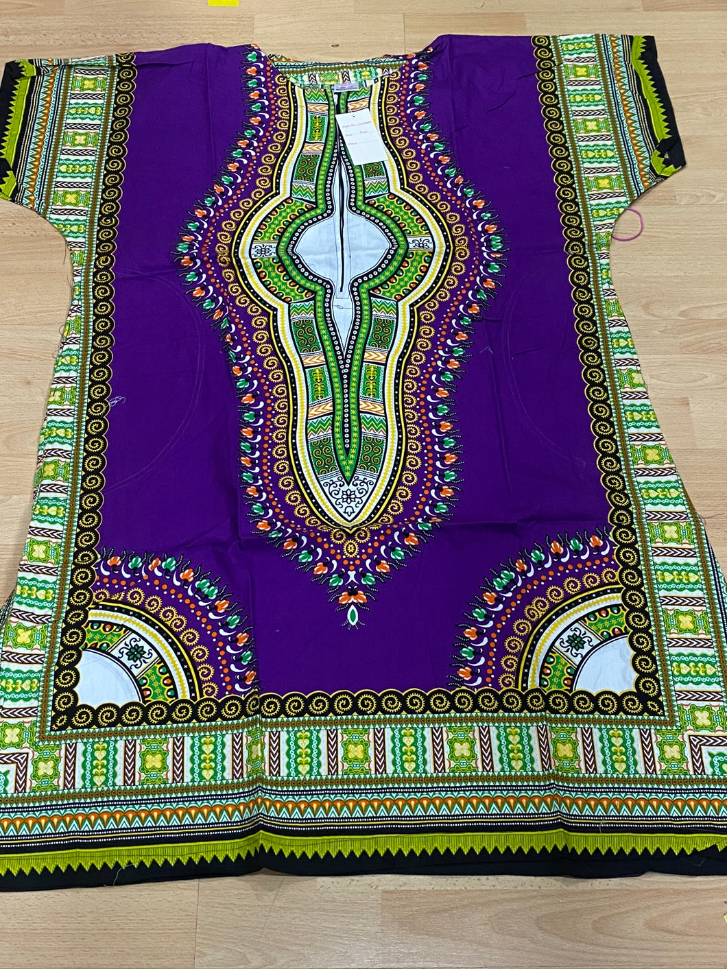 Purple Dashiki Dress