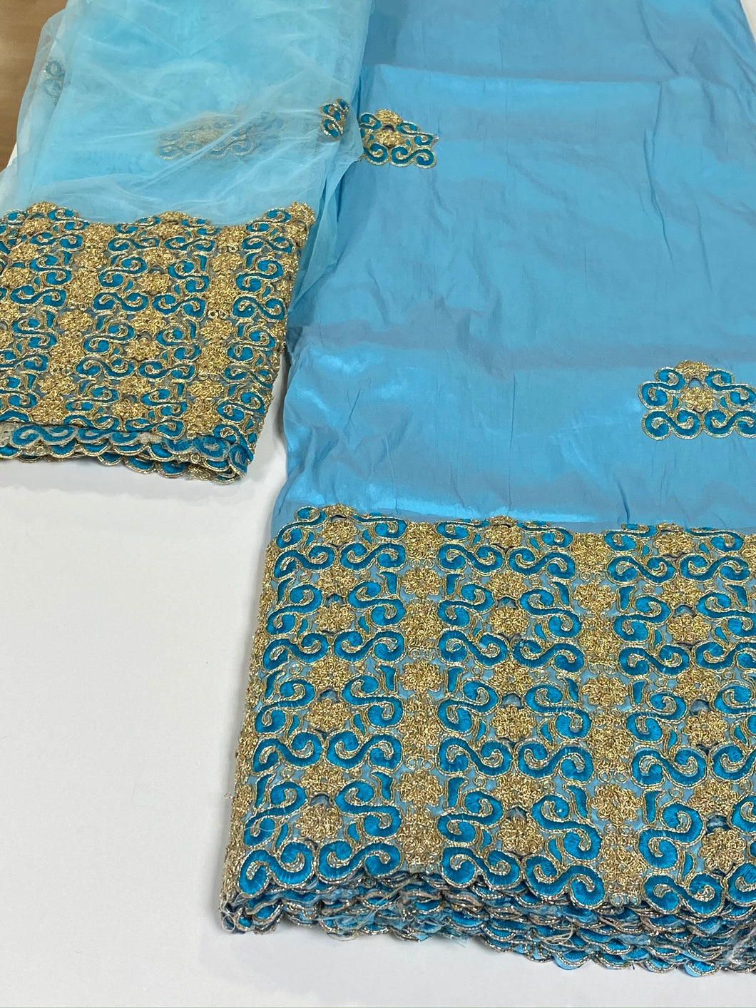 Light Blue George with Blouse Fabric