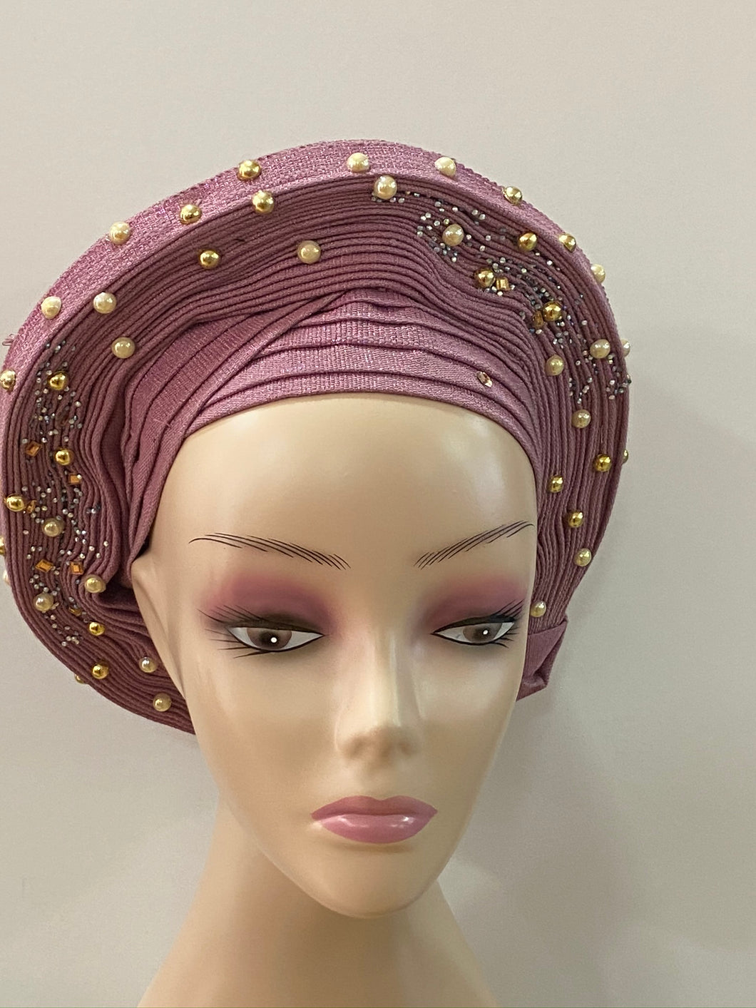 Onion Beaded Auto Gele