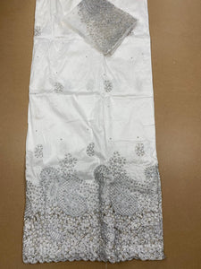 White and Silver George with Blouse Fabric