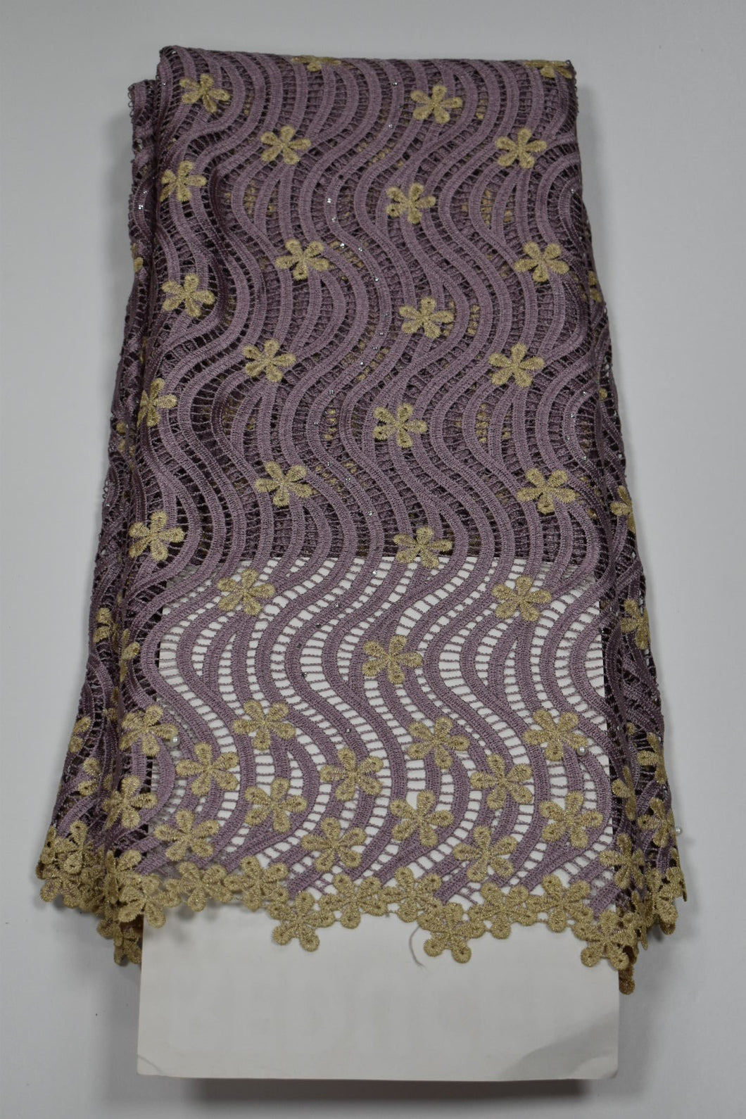 Onion and Gold Cord Lace - 5 Yards