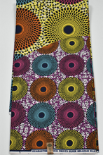 Load image into Gallery viewer, Multi-colour Ankara Print - 6 Yards
