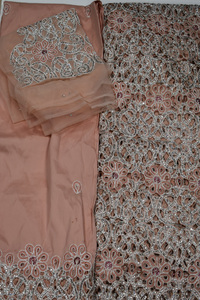 Peach George Full body works (2 piece) with Blouse Fabric