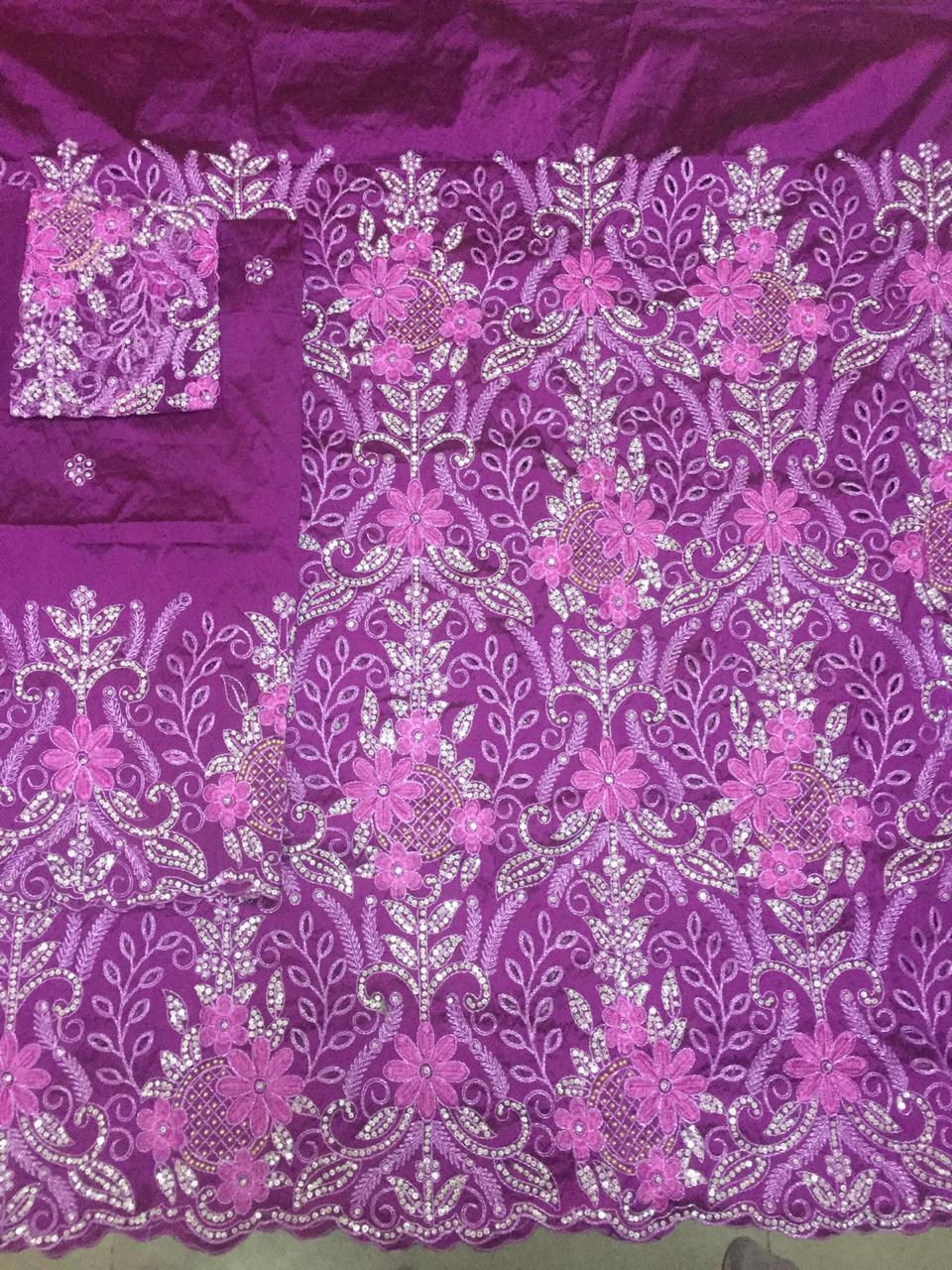 Magenta George Full body works (2 piece) with Blouse Fabric