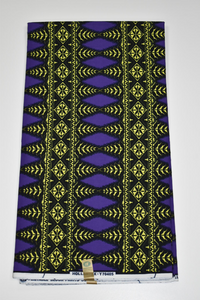 Purple and Yellow Block Print Ankara - 6 Yards