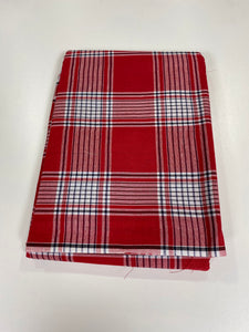 Red and White Plain George - 8 Yards