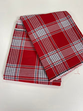 Load image into Gallery viewer, Red and White Plain George - 8 Yards