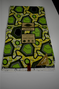 Lime Green and Yellow Ankara Print - 6 Yards