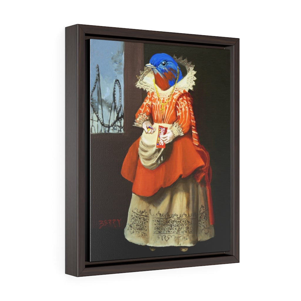 """Bluebird Of Happiness"" Framed Print"