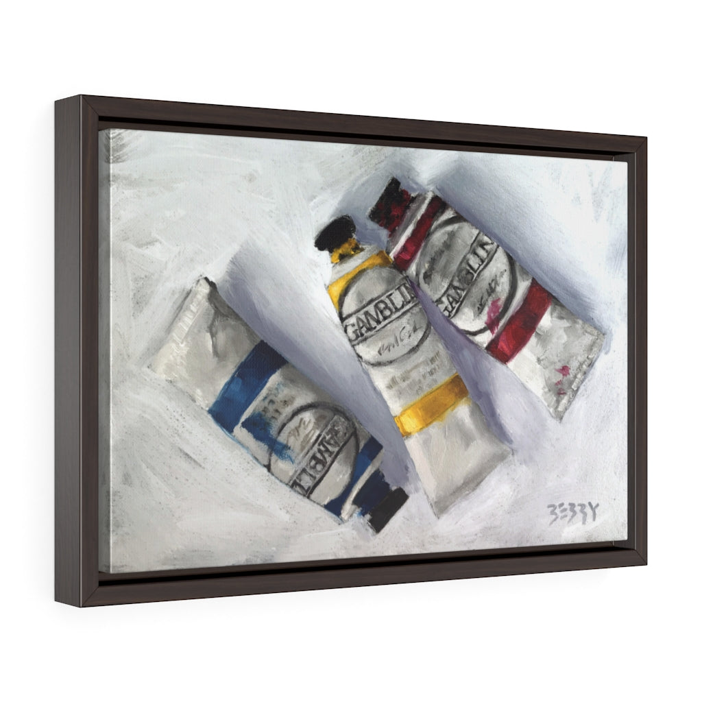 """Three Gamblin Tubes"" Framed Print"