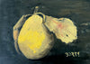 "d'Anjou Pear 5 x 7"" original cold wax painting"