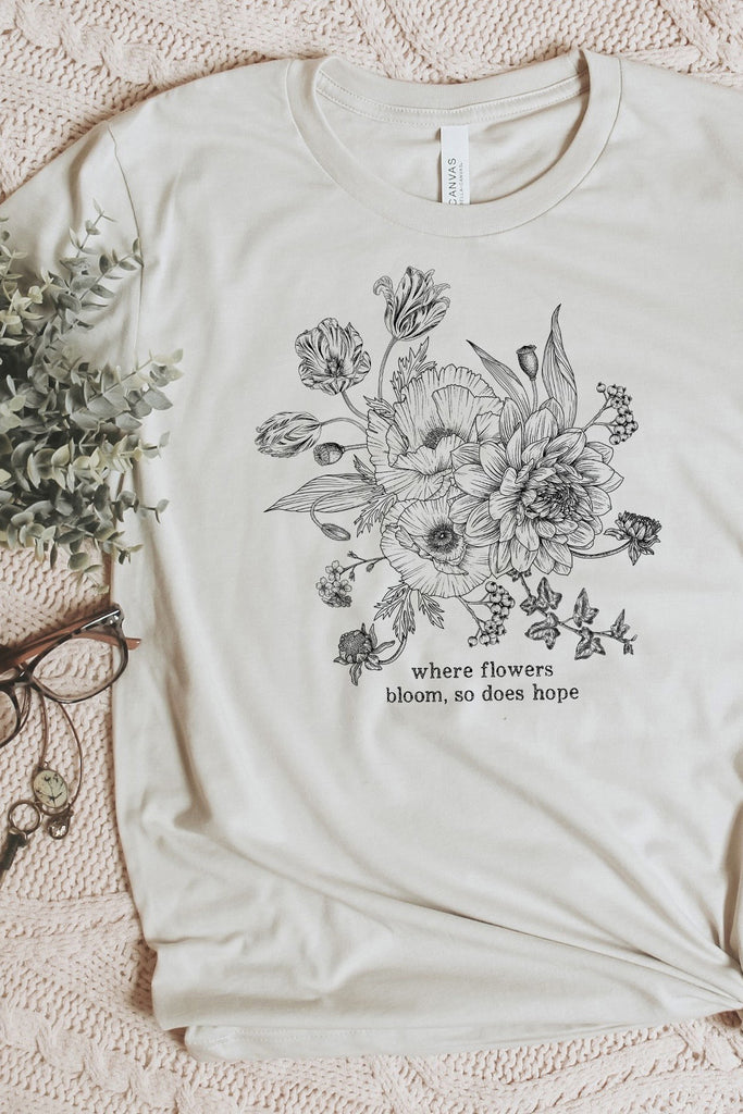 June 2020 Charitable Tee - Bloom Hope {Arukah Institute of Healing} - juniper & mae