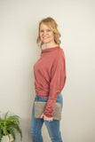 The Renee Dolman Top in Mauve - juniper & mae