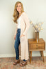 The Camellia Duster Cardigan in Blush - juniper & mae
