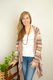 The Michelle Striped Cardigan in Mauve Multi - juniper & mae