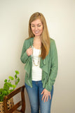 The Kelsey Suede Jacket in Spring Green - juniper & mae