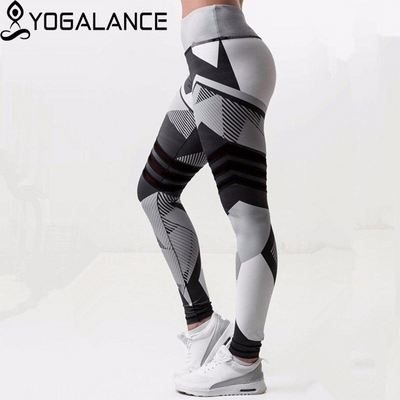 Pants High Waist Elastic Fitness