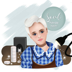 Illustration of Suzanne Pattinson, Founder of Soul Purpose Jewellery created using ProCreate by Jennah Kideer