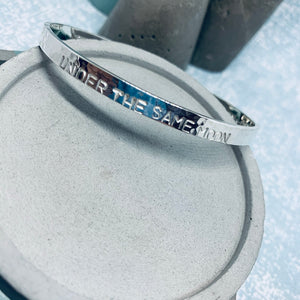 silver torque personalised bangle initial jewellery