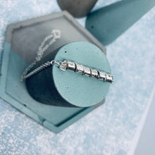 Load image into Gallery viewer, Sterling Silver Personalised Rolling Waves Necklace
