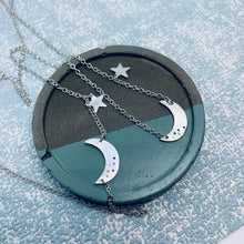 Load image into Gallery viewer, Sterling Silver Crescent Moon Necklace