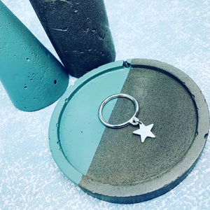 Sterling silver heart/star charm stacking rings