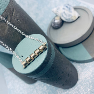 Sterling Silver Personalised Rolling Waves Necklace