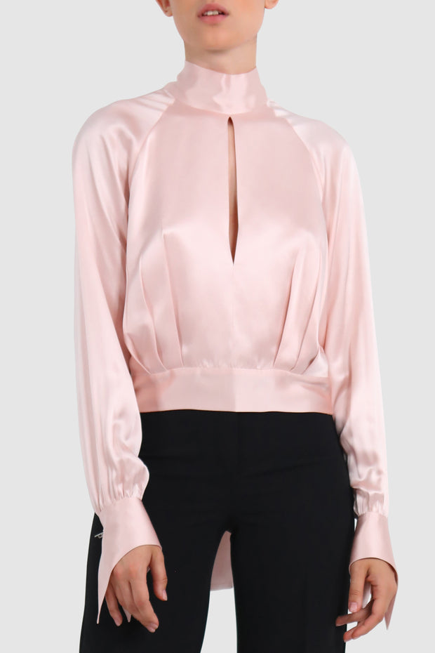Cut out silk blouse