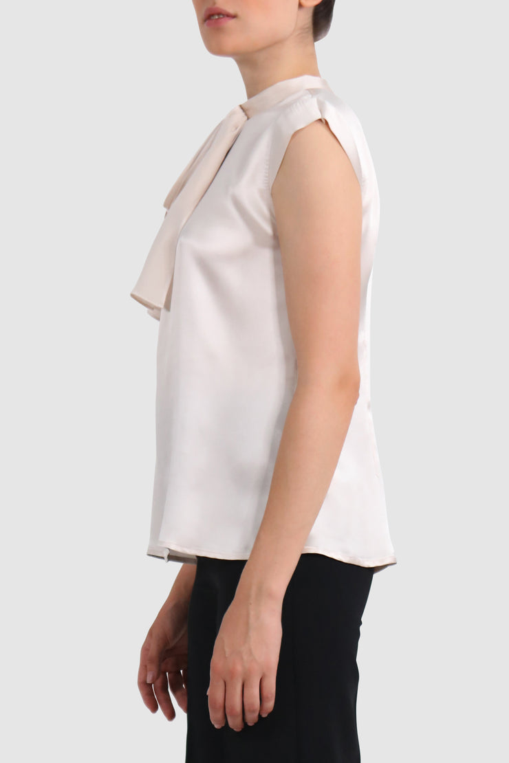 Cape-effect silk top