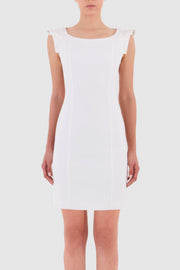 Crepe mini dress