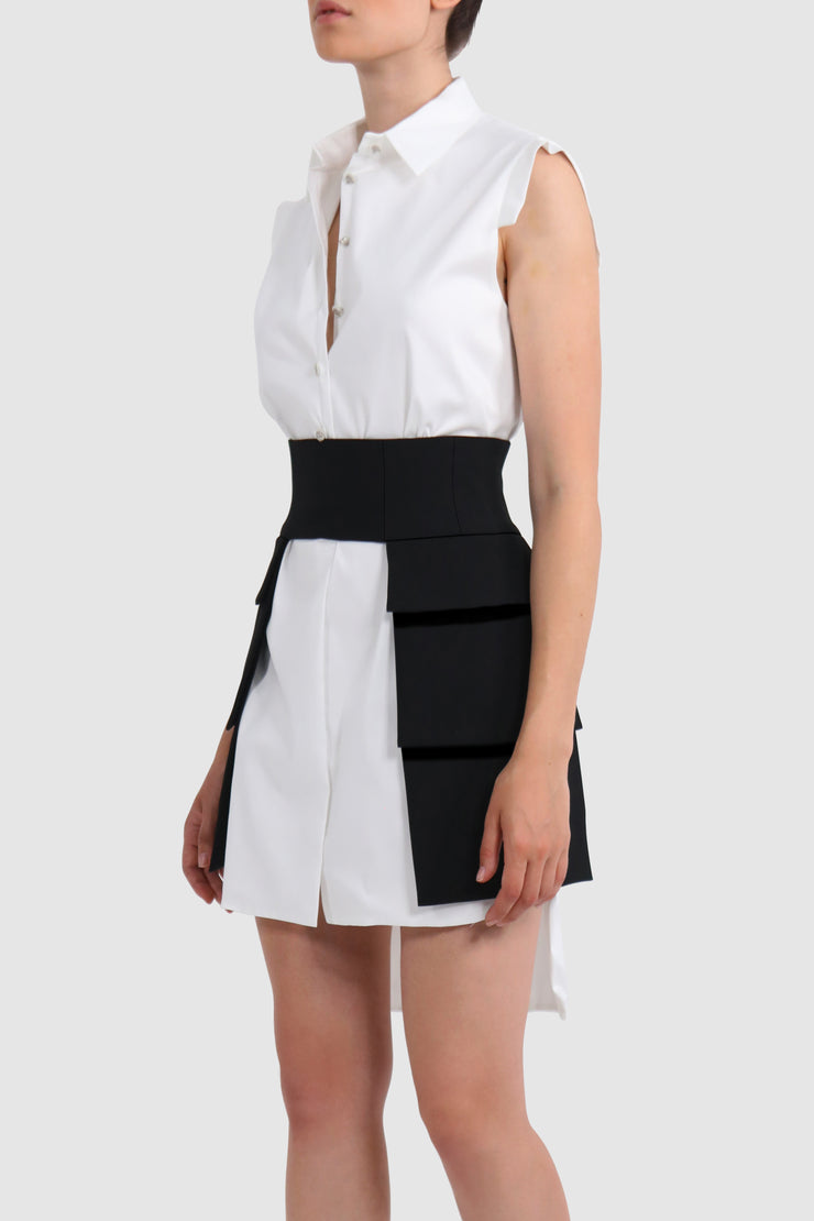 Cut out mini belt-like skirt