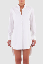 Cotton midi shirt dress
