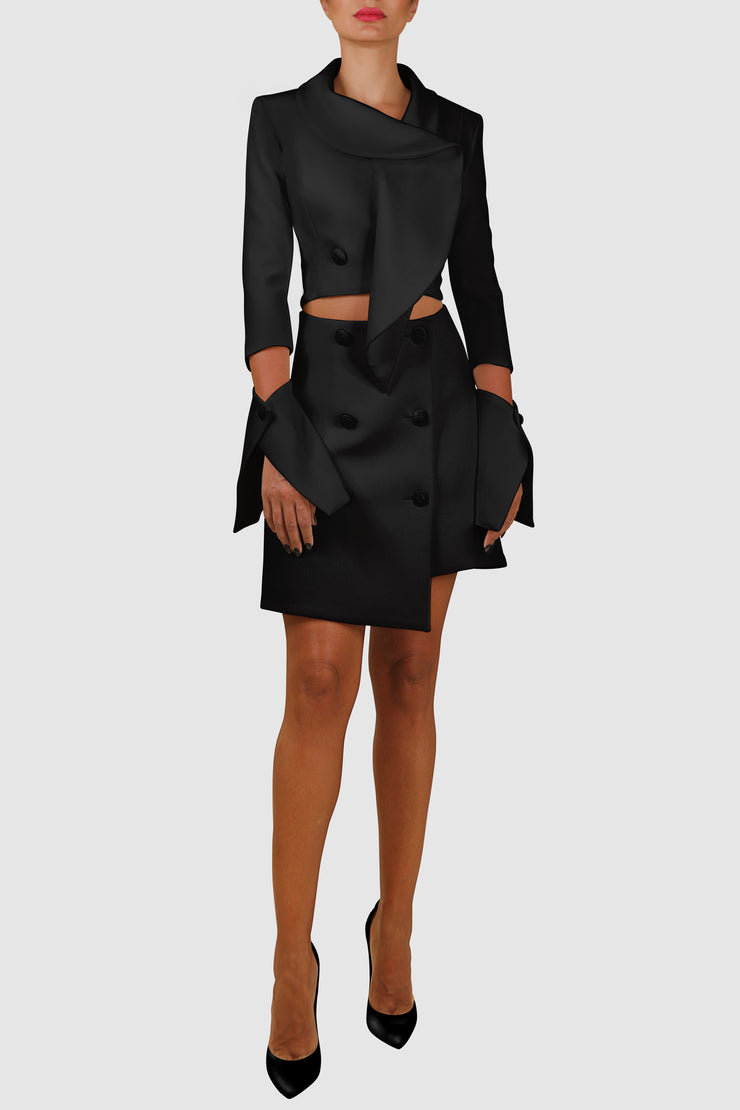 Cut-out Blazer Dress