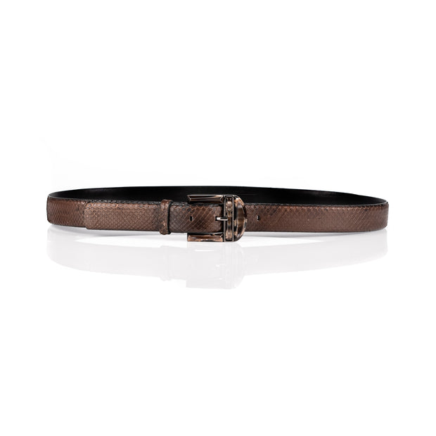 Marble-like buckle belt