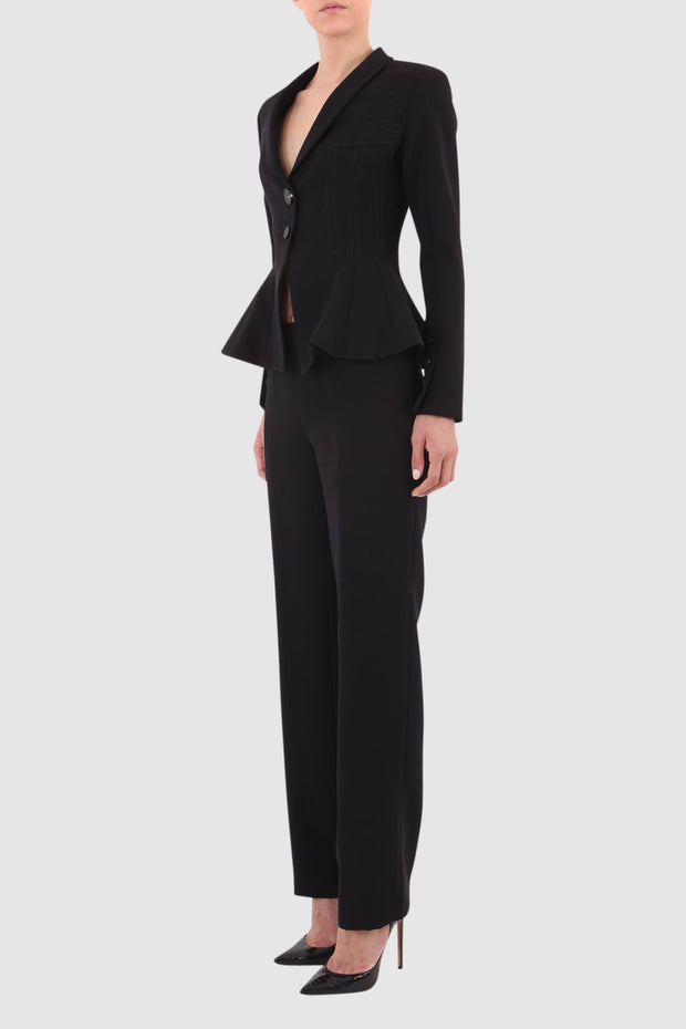 Bell Trim Crepe Suit
