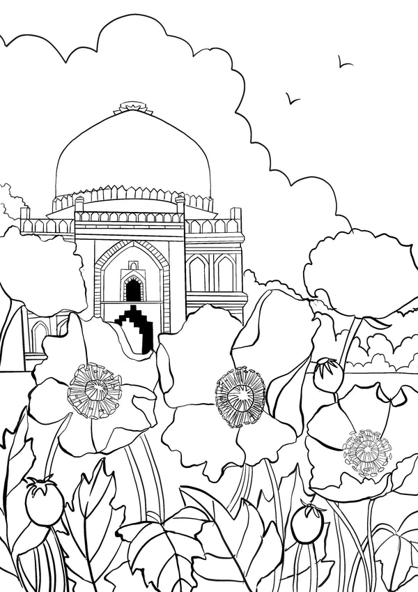 Colouring Pages: Lodhi gardens