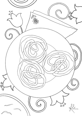 Jalebi Colouring page