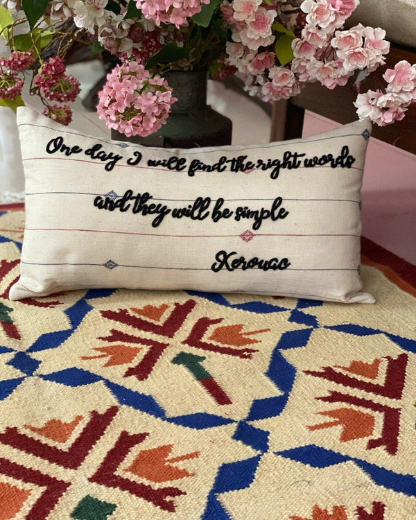The Kerouac Cushion 12x20""