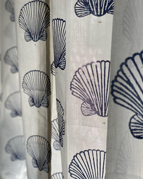 White Sea Shell Curtain