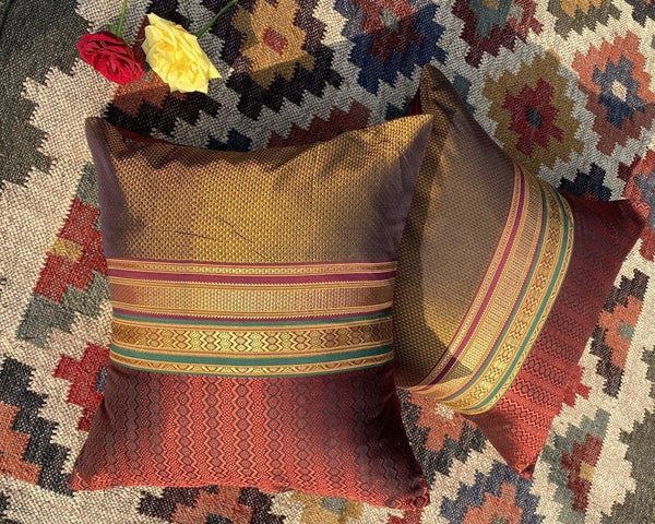 Hassa - Handwoven Khun Cushion 18x18""